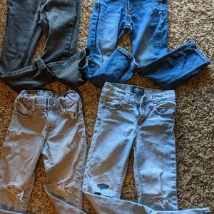 Lot of 4 toddler boy jeans